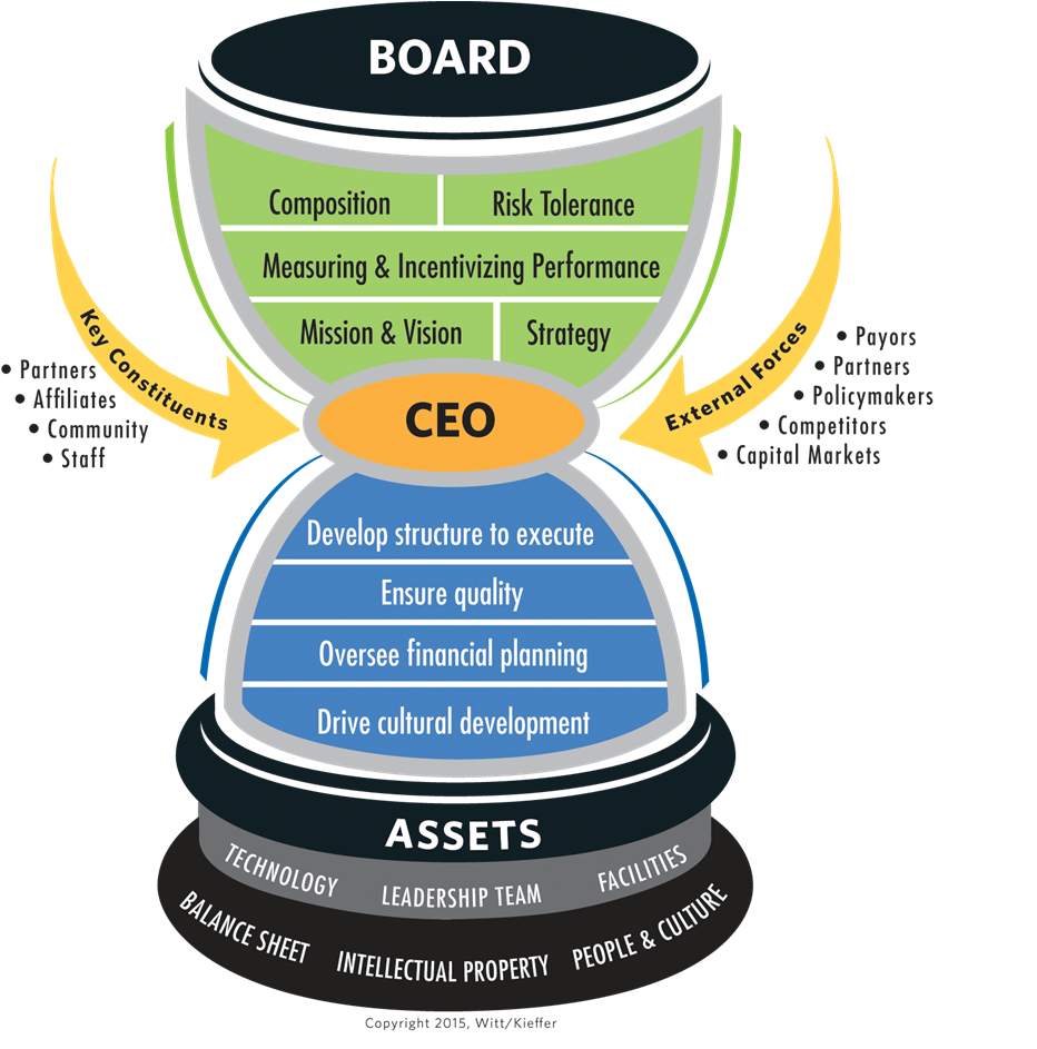 healthcare board-CEO functional model_Chastain